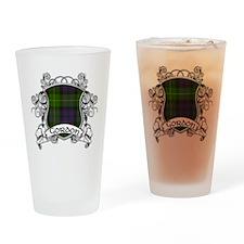Gordon Tartan Shield Drinking Glass