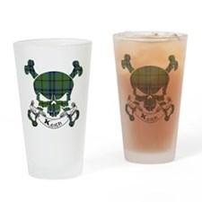 Keith Tartan Skull Drinking Glass