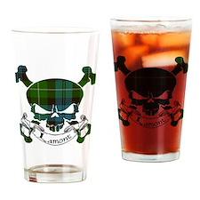 Lamont Tartan Skull Drinking Glass