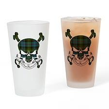 MacKenzie Tartan Skull Drinking Glass