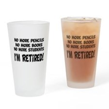Teacher Retirement Pint Glass