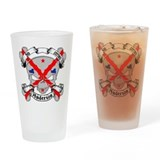 Anderson Family Crest Skull Pint Glass