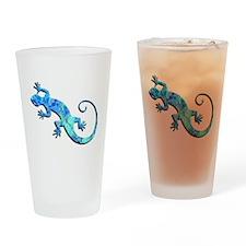 Malachite Blue Gecko Drinking Glass