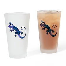 Blue Gecko Drinking Glass