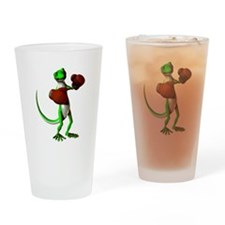 Gecko Boxer Pint Glass