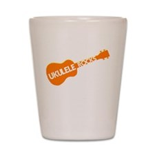 orange ukulele Shot Glass