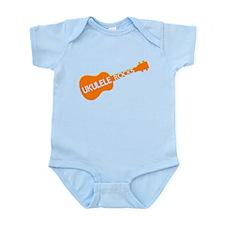 orange ukulele Infant Bodysuit