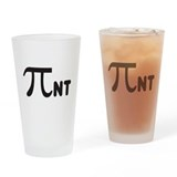 Math symbols Pint Glasses