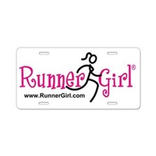 RunnerGirl Aluminum License Plate