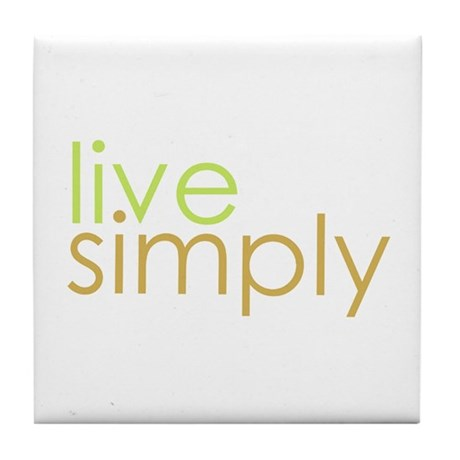 live simply Tile Coaster