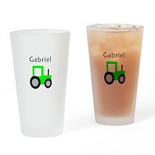 Gabriel - Lime Green Tractor Pint Glass