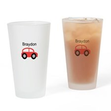 Braydon - Red Car Pint Glass