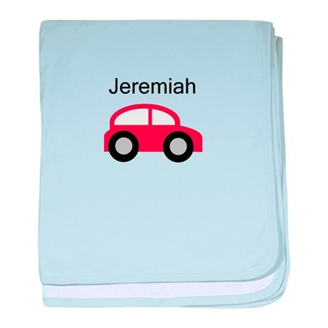 Jeremiah - Red Car baby blanket