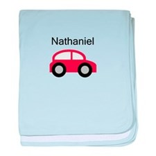 Nathaniel - Red Car baby blanket