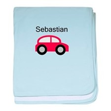 Sebastian - Red Car baby blanket