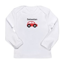 Sebastian - Red Car Long Sleeve Infant T-Shirt