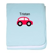 Tristan - Red Car baby blanket