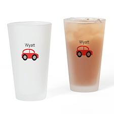 Wyatt - Red Car Pint Glass