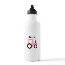 Grace - Pink Tractor Water Bottle