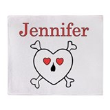 Jennifer - Love Pirate Throw Blanket