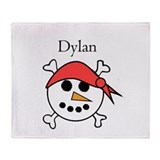Dylan - Snow Pirate Throw Blanket