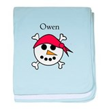 Owen - Snowman Pirate baby blanket