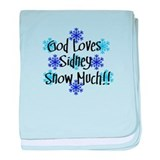 Sidney - Snow Much baby blanket