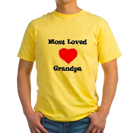 Most Loved Grandpa Yellow T-Shirt