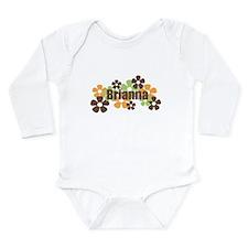 Brianna - Fall Flowers Long Sleeve Infant Bodysuit