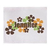 Jennifer - fall flowers Throw Blanket