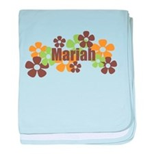 Mariah - Fall Flowers baby blanket