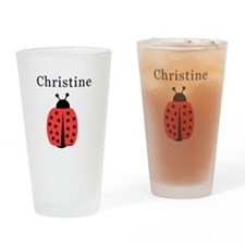 Christine - Ladybug Pint Glass