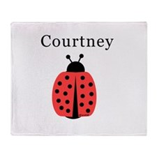 Courtney - Ladybug Throw Blanket