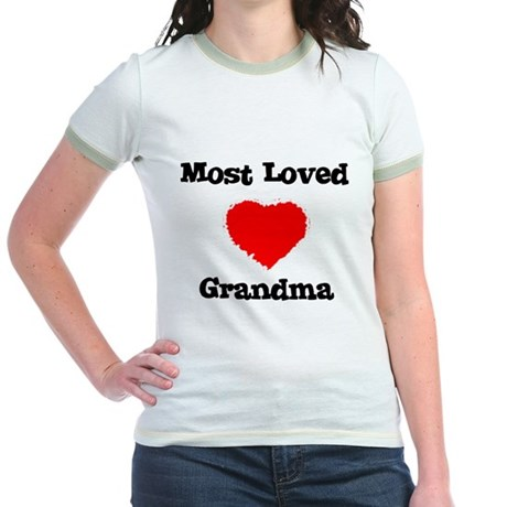 Most Loved Grandma Jr. Ringer T-Shirt