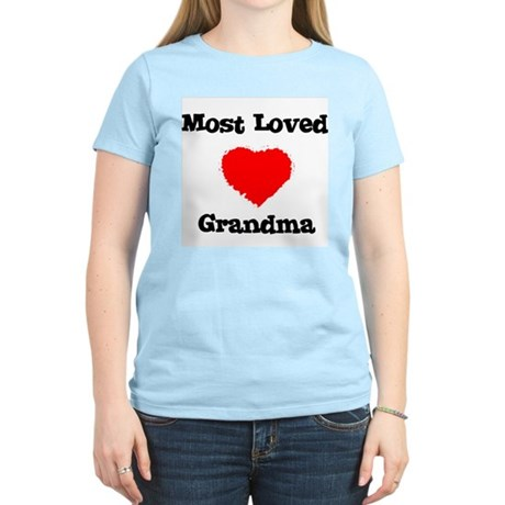 Most Loved Grandma Women's Pink T-Shirt