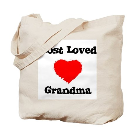 Most Loved Grandma Tote Bag