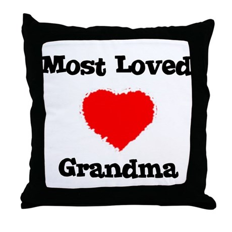 Most Loved Grandma Throw Pillow