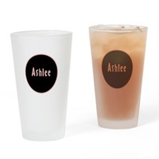 Ashlee - Pink Circle Pint Glass