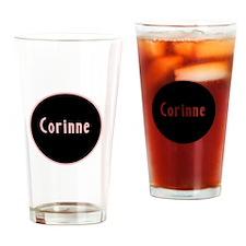 Corinne - Pink Name Circle Pint Glass