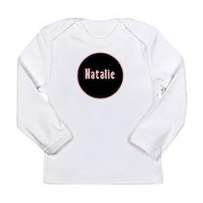 Natalie - Pink Circle Long Sleeve Infant T-Shirt