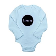 Cameron - Blue Circle Long Sleeve Infant Bodysuit