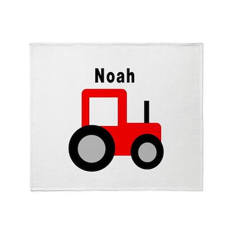 Noah - Red Tractor Throw Blanket