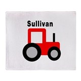 Sullivan - Red Tractor Throw Blanket