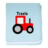 Travis - Red Tractor baby blanket