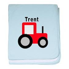 Trent - Red Tractor baby blanket