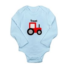 Trent - Red Tractor Long Sleeve Infant Bodysuit
