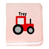 Trey - Red Tractor baby blanket