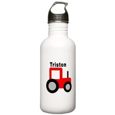 Triston - Red Tractor Water Bottle