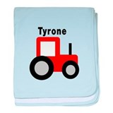 Tyrone - Red Tractor baby blanket
