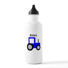 Aiden - Blue Tractor Water Bottle